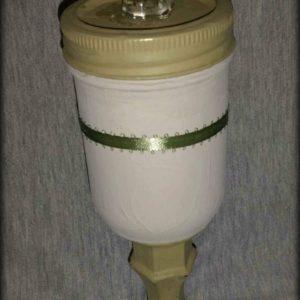 Small Mason Jar on a Pedastal 2 PM