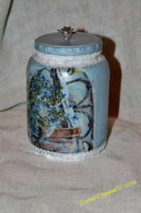 Lovely in Blue Jar PM
