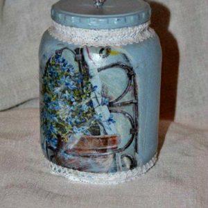 Lovely in Blue Jar PM