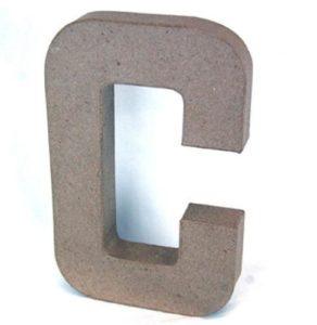 C Paper Mache Letter