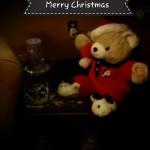 Christmas Decoration Side Table Bear