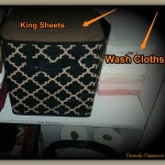 King Sheets & Wash Clothes PM & Stich