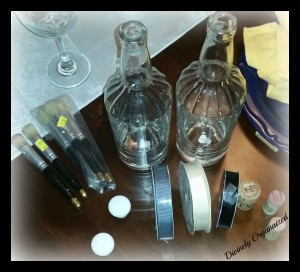 Bottles, Ribbon, Wine Stoppers, Paint Brushes, Cabinet Knobs PM