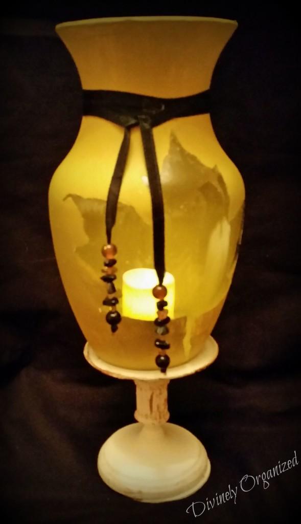 Fall Vase w-Light Glow PM