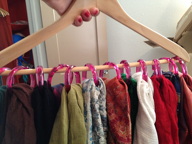 Courtesy: Great Space Organizing http://greatspaceorganizing.squarespace.com/tips-blog/2012/6/26/scarves-belts-organizing-tips.html