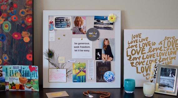 Organized Vision Board