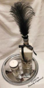 Black Butterfly Bottle & Candle PM