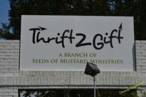 Thrift to Gift Outdoor Sign PM