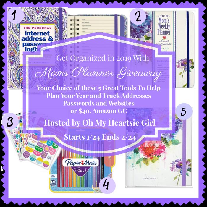 Moms Planner Giveaway