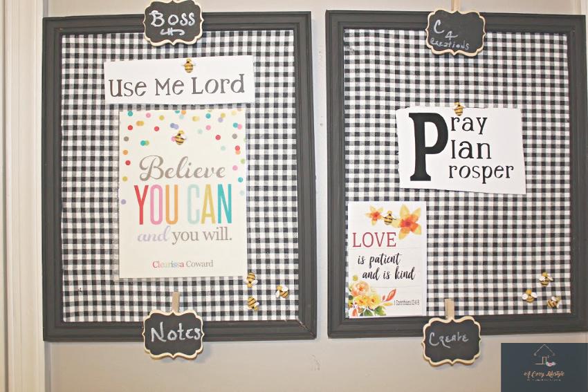 Crafting My Stash - DIY Bulletin Boards   Clearissa Coward's Command Center