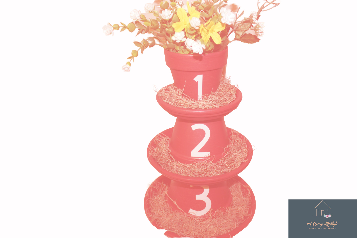 Terracotta Flower-Pot Tower